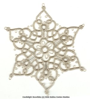 silver candlelight snowflake